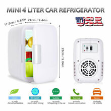 4 Liter 6 Can Mini Fridge Electric Cold Warm Portable Refrigerator For Home Car