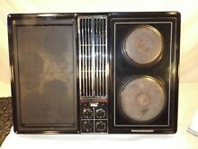 Jenn air downdraft cooktop c228 with multiple inserts NICE