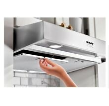 Whirlpool 30 in  Under Cabinet Range Hood in Stainless Steel with Boost Function
