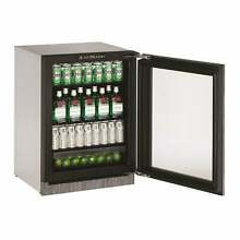 U Line 2000 Series 2224 24 inch Integrated Framed Glass Door Clear