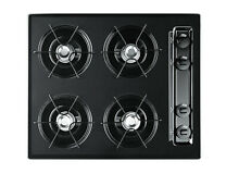 Summit NL033 Black 24 W 4 Burner Gas Cooktop