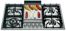 ILVE  36  Gas Cooktop   Nat Gas  5 Burners   Griddle   Stainless Steel