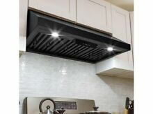 AKDY 30 in  500 CFM Ducted Under Cabinet Range Hood in Black Stainless Steel