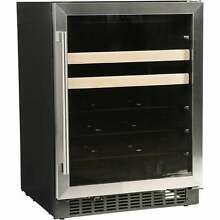 Azure A124BEV S 24  Beverage Center with Stainless Trim Stainless Steel