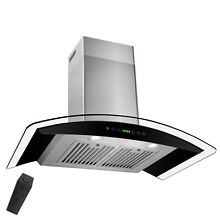 AKDY 36  Stainless Steel Wall Mount Range Hood with Gas Sensor Remote Control Te