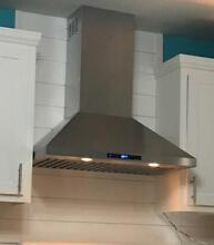 AKDY 30 in  Convertible Kitchen Wall Mount Range Hood in Stainless Steel