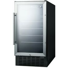 Summit SCR1841B 18 W 2 7 Cu  Ft  Built In or   Stainless Steel