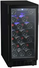 EdgeStar BWR301BL 15 W 25 Bottle Built In Single Zone Wine Cooler   Black