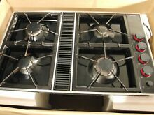 Jenn Air Expressions Black or white Gas Downdraft Cooktop CVGX2423B Stovetop