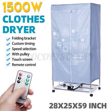 1500W Foldable Electric Clothes Drying Rack Laundry Dryer Heater Room Wardrobe