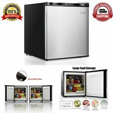 Free Standing Upright Freezer Single Door Compact 1 1 Cu Ft  Storage Stainless