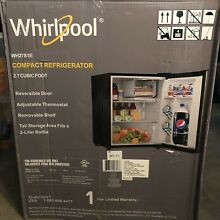 NEW WHIRLPOOL Mini Compact Small Refrigerator Stainless Steel Freezer 2 7cu ft
