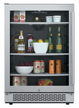 Avallon ABR241GLH 24 W 140 Can Energy Efficient Beverage Center   Stainless