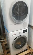 BOSCH 24 INCH VENTLESS ELECTRIC DRYER AND FRONT LOAD WASHER