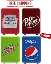 6 Can Cooler Mini Compact  Fridge Office Personal Portable Car or Wall Plug In