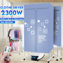Clothes Dryer Rack 2300w Portable Electric Air Heater Folding Drying Machine US