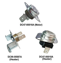 3 Pc Replacement Parts for Samsung Dryers  DC96 00887A  DC47 00018A  DC47 00016A