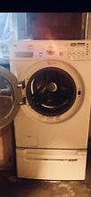 Lg Large Capacity Washer And Dryer   With Pedestals In Great Working Condition