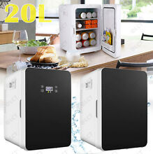 Mini Fridge with Freezer Refrigerator Dorm Room Party Cooler Small Office 20L US