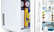 Mini Fridge 6 Liter 8 Can Compact Portable Personal Cooler and Warmer for Bedro