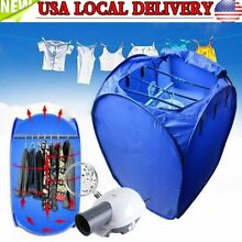 US 800W Portable Electric Air Heater Clothes Dryer Rack Folding Drying Machine