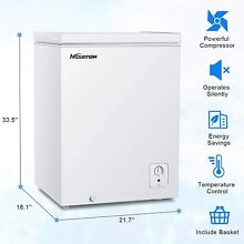 4 0 CuFt Portable Compact Deep Chest Upright Freezer Storage Quick Defrost 2021