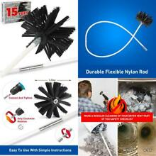 15 Feet Dryer Vent Cleaner kit Dryer Vent Cleaning Brush Lint Remover Easy Use