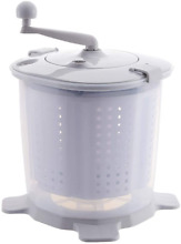 Portable Hand Powered Washing Machine Mini Manual Washer and Spin Dryer Combo No