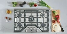 GE Cafe CTD70DM2NS5 30  Platinum Glass Stainless Electric Double Wall Oven