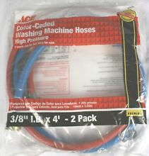 Ace Hardware Color Coded Washing Machine Hoses 3 8  ID x 4    Red   Blue   NOS