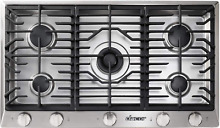 Dacor HCT365GSNG Heritage Series 36 Inch Natural Gas Cooktop with 5 Sealed Burne