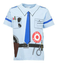 Kinder Uniform T-Shirt * Polizei Blau92/98 bis128/134