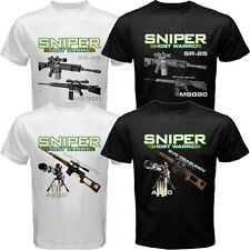 Sniper Ghost Warrior SR-25 Dragunov MSG90 AS50 T-shirt