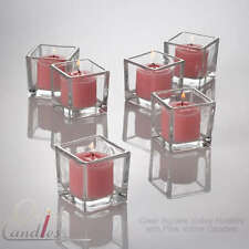 72 Pink Votive Candles & 72 Clear Glass Votive Holders