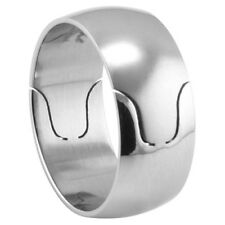 Stainless Steel Plain Dome Ring with Design