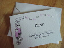 PERSONALISED BIRTHDAY RSVP CARD 40TH 50TH 60TH PCH 5