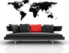 MAP OF THE WORLD WALL DECAL VINYL STICKER 17 COLOURS