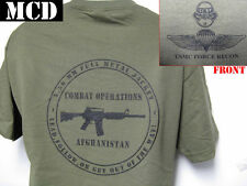 USMC FORCE RECON T-SHIRT/ AFGHANISTAN OPS T-SHIRT/ MCD