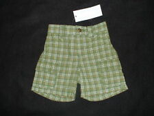 NWT GYMBOREE LITTLE TRACTOR CO PLAID SHORTS EASTER 3 6