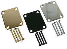 Stratocaster / Telecaster Neck Plate - Screws Included