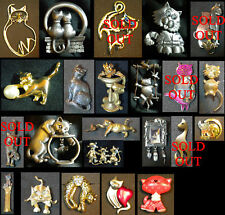 Assorted Cat Pins, JJ, Avon, NP, Ultra Craft, 9.99 each