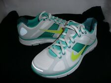 LADIES NIKE LUNAR ELITE FLYWIRE RUNNERS WHITE/AQUA NEW
