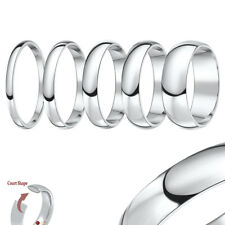 New Silver Super Heavy Weight Court Shape Wedding ring