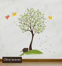 Nursery Tree Wall Decal Large Tree wall Stickers Birds Kids Room Decor Removable