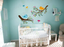 Nursery Wall Decals Tree Branch Birds kids Room Removable Vinyl Wall Stickers