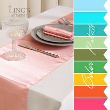 "10 pieces 12""x108"" Satin Table Runner Wedding Party Banquet Decoration COLORS"