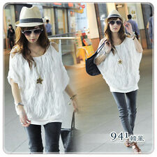 New Womens Lady Off Shoulder Batwing Dolman Sleeve Casual Tops Long T-shirt #107