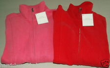 NWT LADY HATHAWAY Soft Jersey Zip Front Jacket Zip Pockets Pick RED,PINK S, M