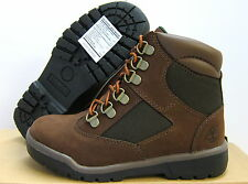 """NEW YOUTH TIMBERLAND 6"""" WATERPROOF FIELD BOOTS  [44792]  BROWN-GREEN"""