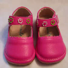 PINK Flower Strap girls SQUEAKY SHOES  SIZE 4 -8